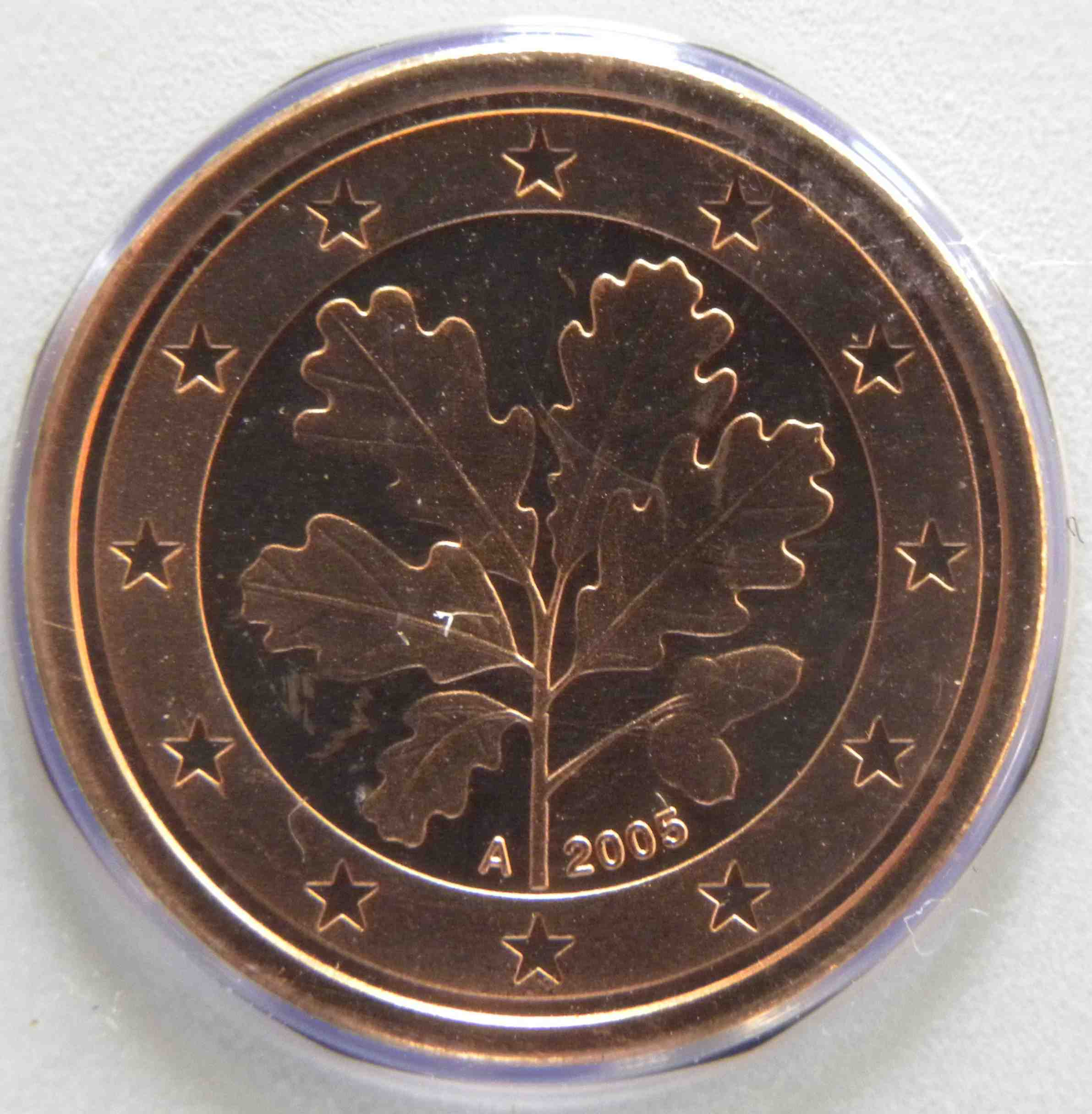 Germany 1 Cent Coin 2005 A Euro Coins Tv The Online Eurocoins Catalogue