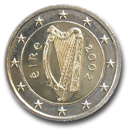 Irlande 2 Euro 2002 Pieces Eurotv Le Catalogue Des Monnaies En