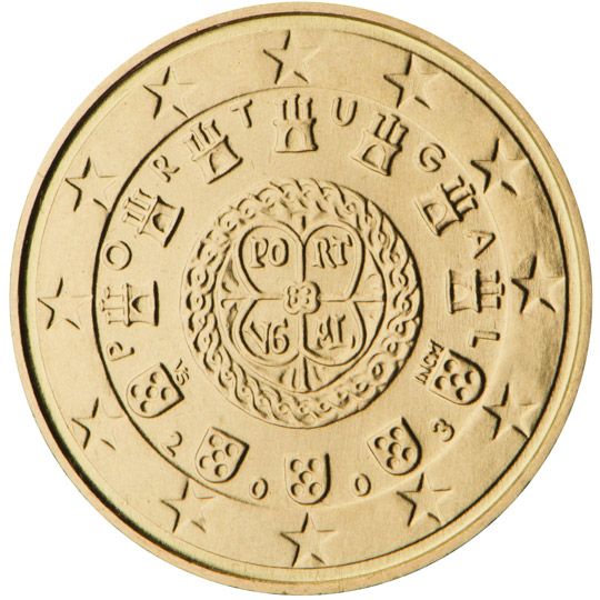 portugal 10 cent coin 2003 euro the online euro coins catalogue. Black Bedroom Furniture Sets. Home Design Ideas
