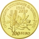 France 100 Euro Gold Coin - The Sower - 50 Years of the New Franc 2010 - © NumisCorner.com