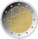 Latvia 2 Euro Coin - 100th Anniversary of the Recognition of the Republic of Latvia 2021 - © European Union 1998–2021
