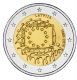 Latvia 2 Euro Coin - 30 Years of the EU Flag 2015 - © Michail