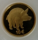 Luxembourg 10 Euro gold coin Cultural History - The boar from the Titelberg 2006 - © Veber
