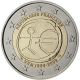 France 2 Euro Coin - 10 Years Euro - WWU - UEM 2009 - © European Central Bank