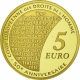 France 5 Euro gold coin 50 years European Court for Human Rights 2009 - © NumisCorner.com