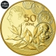 France 50 Euro Gold Coin - The Sower - The New Franc - General de Gaulle 2020 - © NumisCorner.com