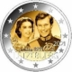 Luxembourg 2 Euro Coin - 40th Wedding Anniversary of Grand Duchess Maria Teresa With Grand Duke Henry - Minted Photo Image 2021 - © European Union 1998–2021