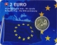 Slovakia 2 Euro Coin - 30th Anniversary of the EU Flag 2015 - Coincard - © Zafira