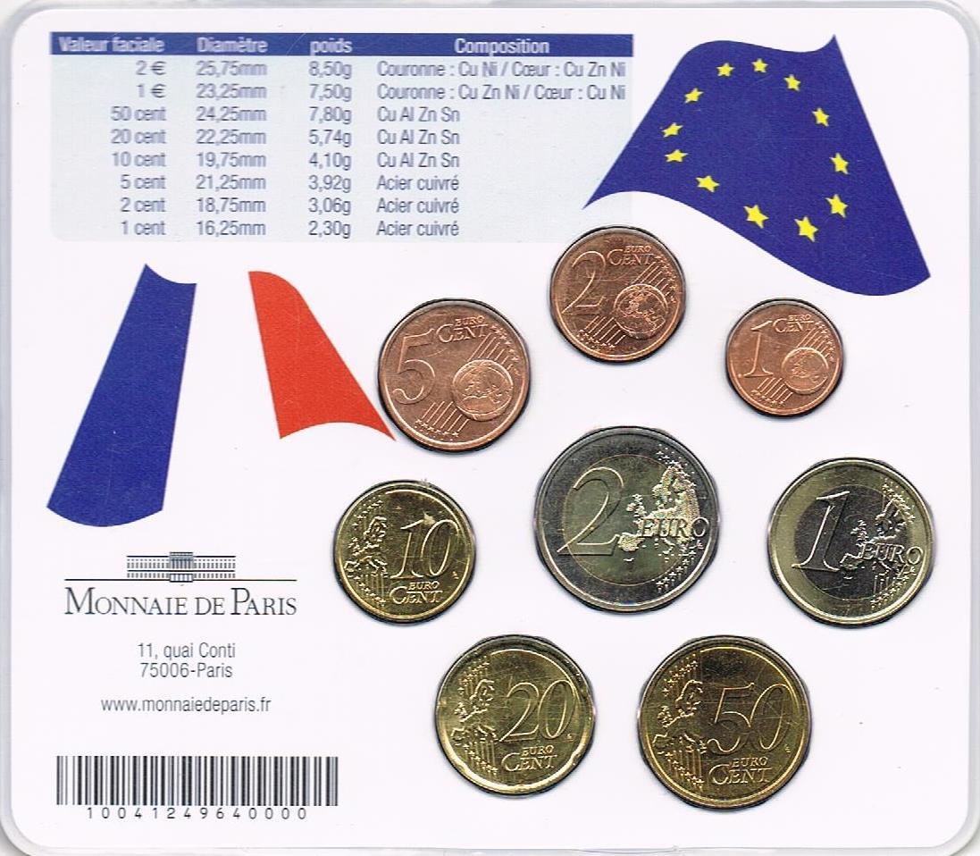 Frankreich Euro Münzen Kursmünzensatz 2007 Sonder Kms Giscard D