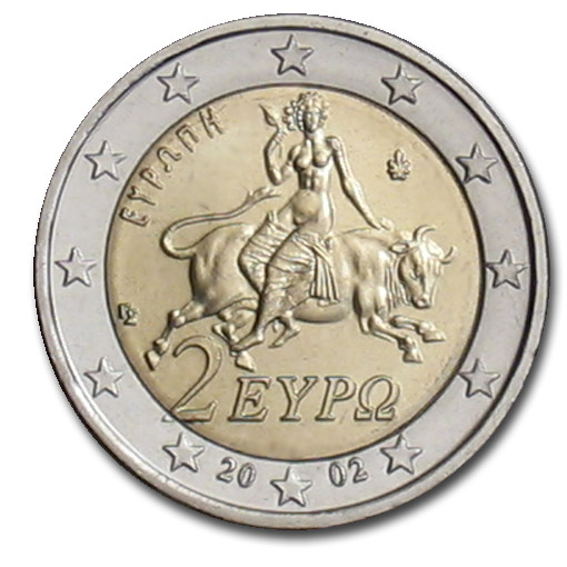 greece 2 euro coin 2002 euro the online. Black Bedroom Furniture Sets. Home Design Ideas
