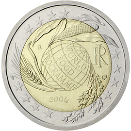 Italy 2 Euro Coin 40 Years World Food Programme 2004 Euro Coins