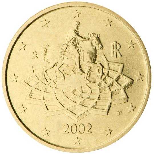 italy 50 cent coin 2002 euro the online. Black Bedroom Furniture Sets. Home Design Ideas