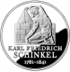 Germany 10 Euro silver coin 225. birthday of Karl Friedrich Schinkel 2006 - Brilliant Uncirculated - © Zafira