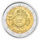 Italy 2 Euro Coin - 10 Years of Euro Cash 2012 - © Michail