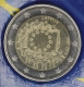 Latvia 2 Euro Coin - 30 Years of the EU Flag 2015 - © eurocollection.co.uk