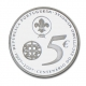Portugal 5 Euro silver coin 100 years boy scouts 2007 - © bund-spezial