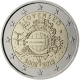 Slovakia 2 Euro Coin - 10 Years of Euro Cash 2012 - © European Central Bank