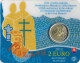 Slovakia 2 Euro Coin - 1150th Anniversary of the Advent of St. Cyrillus and Methodius in Great Moravia 2013 - Coincard - © Zafira