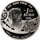 France 1 1/2 (1,50) Euro silver coin 100. anniversary of the death of Jules Verne - In 80 days around the world 2005 - © NumisCorner.com
