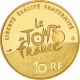 France 10 Euro gold coin 100 years Tour de France - racing cyclist 2003 - © NumisCorner.com