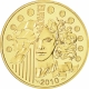 France 50 Euro Gold Coin - Europa Series - 1100th Anniversary of the Abbey of Cluny 2010 - © NumisCorner.com