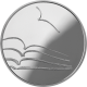 Lithuania 5 Euro Silver Coin Lithuanian Culture - Literature 2015 - © Bank of Lithuania