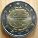 Spain 2 Euro Coin - 10 Years Euro - WWU - EMU 2009 - Partial Edition with Big Stars on the Theme Site - © eurocollection.co.uk