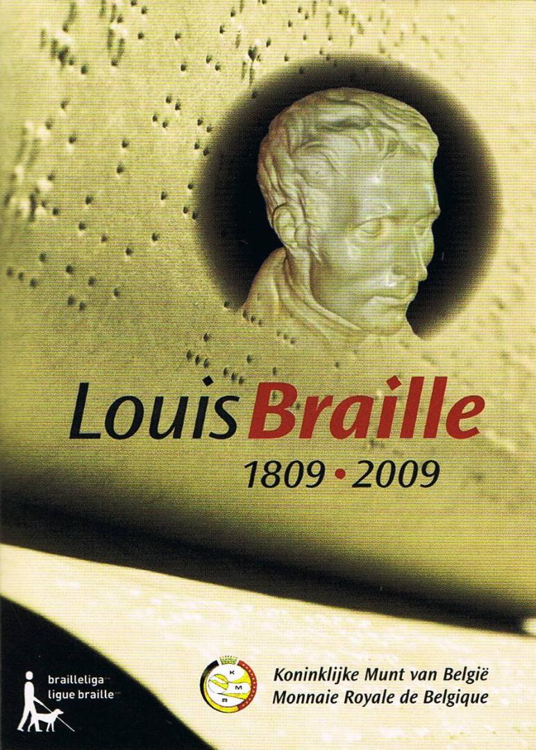 Belgien 2 Euro Münze 200 Geburtstag Von Louis Braille 2009 Im