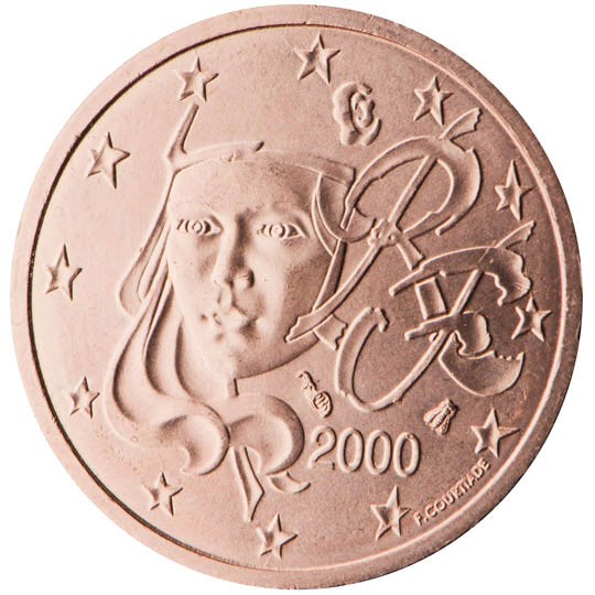 france 2 cent coin 2000 euro the online euro coins catalogue. Black Bedroom Furniture Sets. Home Design Ideas