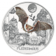 Austria 3 Euro Coin - Colourful Creatures - The Bat 2016 - © Humandus