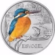 Austria 3 Euro Coin - Colourful Creatures - The Kingfisher 2017 - © Humandus