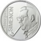 Belgium 10 Euro silver coin 100. birthday of Georges Simenon 2003 - © macgerman