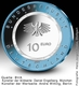 Germany 10 Euro Commemorative Coin - Air and Motion - On Water 2021 - F - Stuttgart Mint - Brilliant Uncirculated - BU