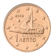 Greece 1 Cent Coin 2009 - © Michail