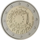 Latvia 2 Euro Coin - 30 Years of the EU Flag 2015 - © European Central Bank