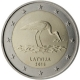 Latvia 2 Euro Coin - Stork 2015 - © European Central Bank