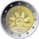 Latvia 2 Euro Coin - The Rising Sun 2019 - Coincard - © Michail