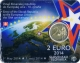 Slovakia 2 Euro Coin - 10 Years of Slovakian Membership in European Union 2014 - Coincard - © Zafira